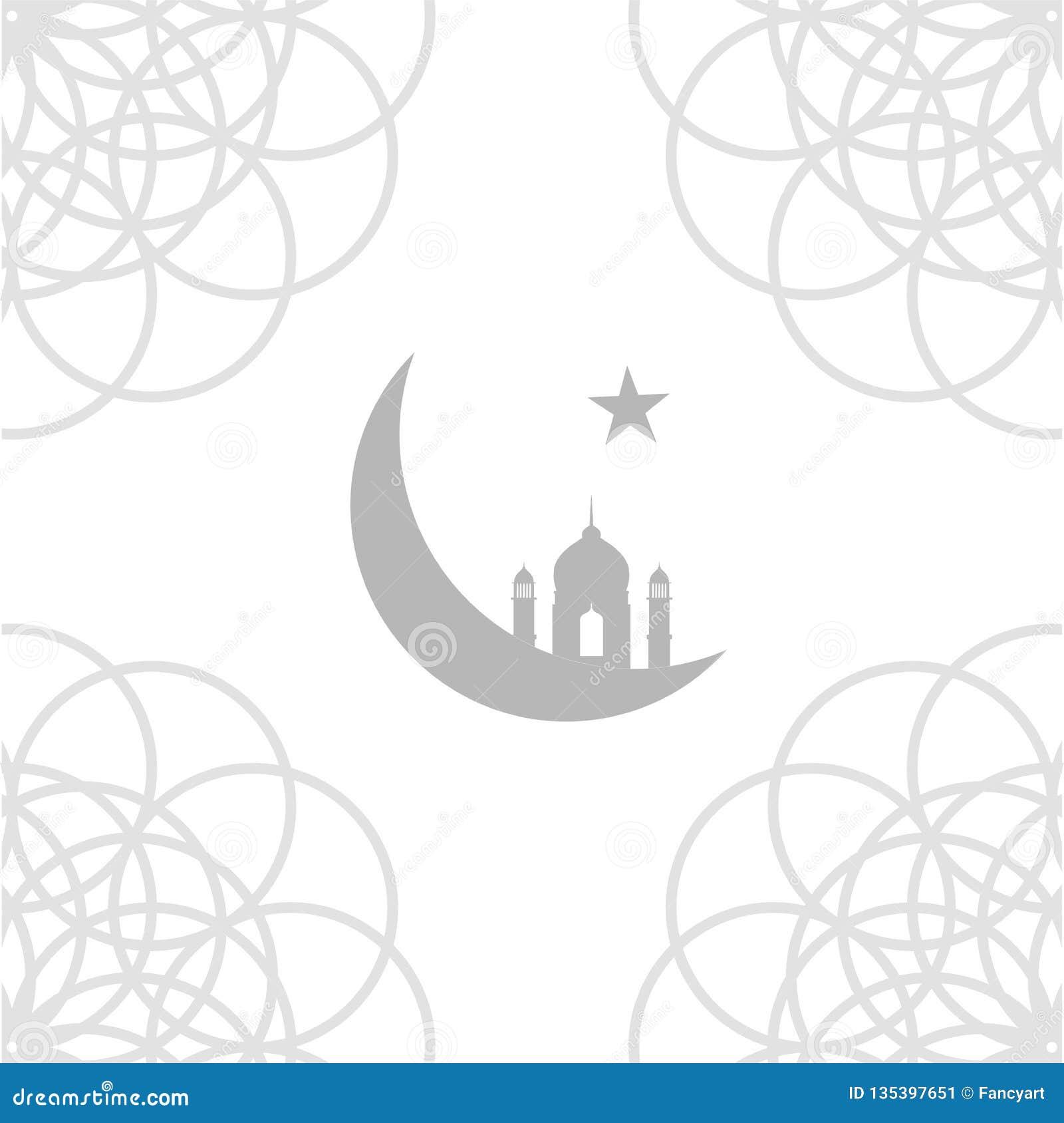 Meczetowy i półksiężyc księżyc symbol religia islam