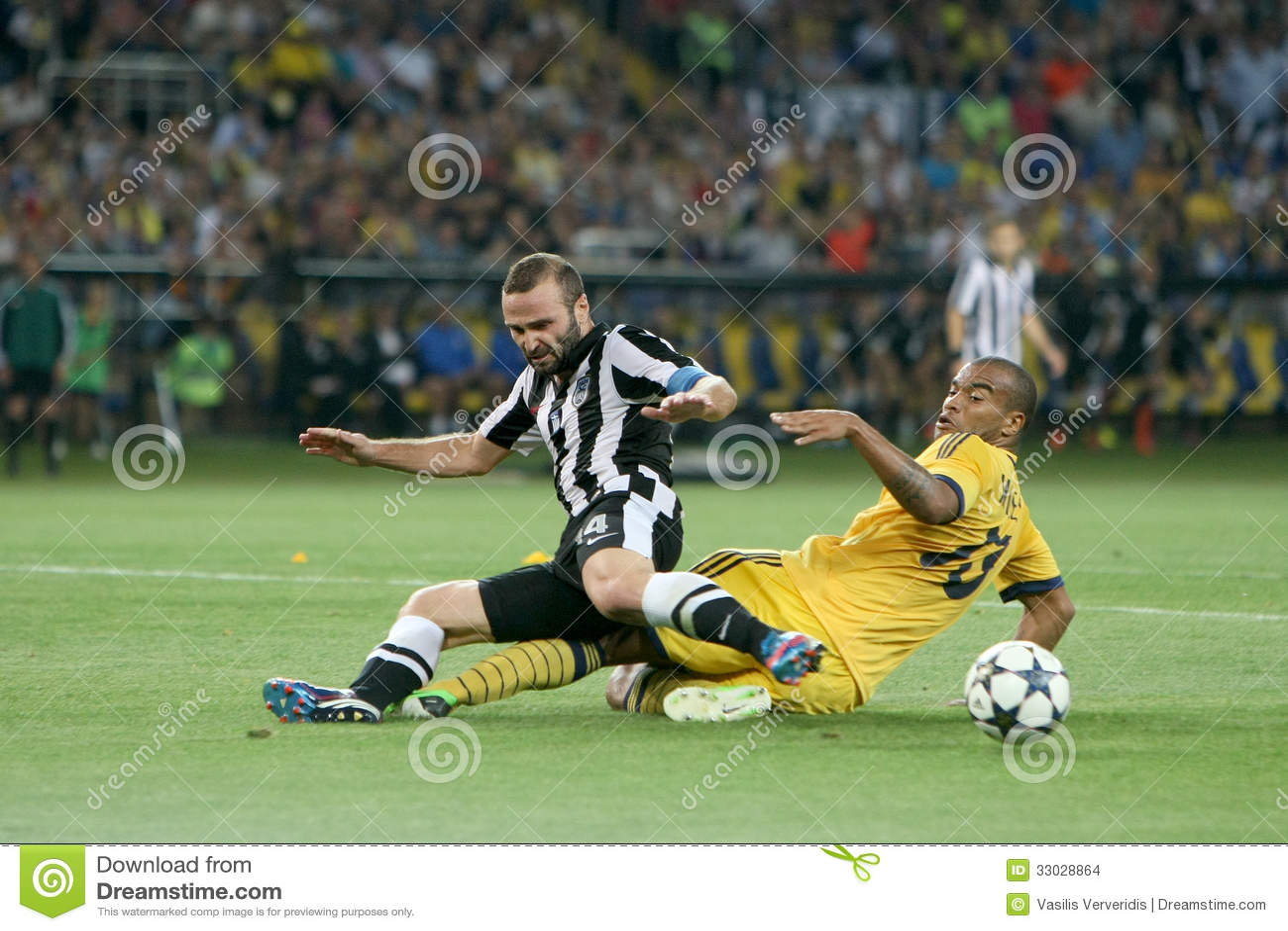 Meczu piłkarskiego metalist vs paok