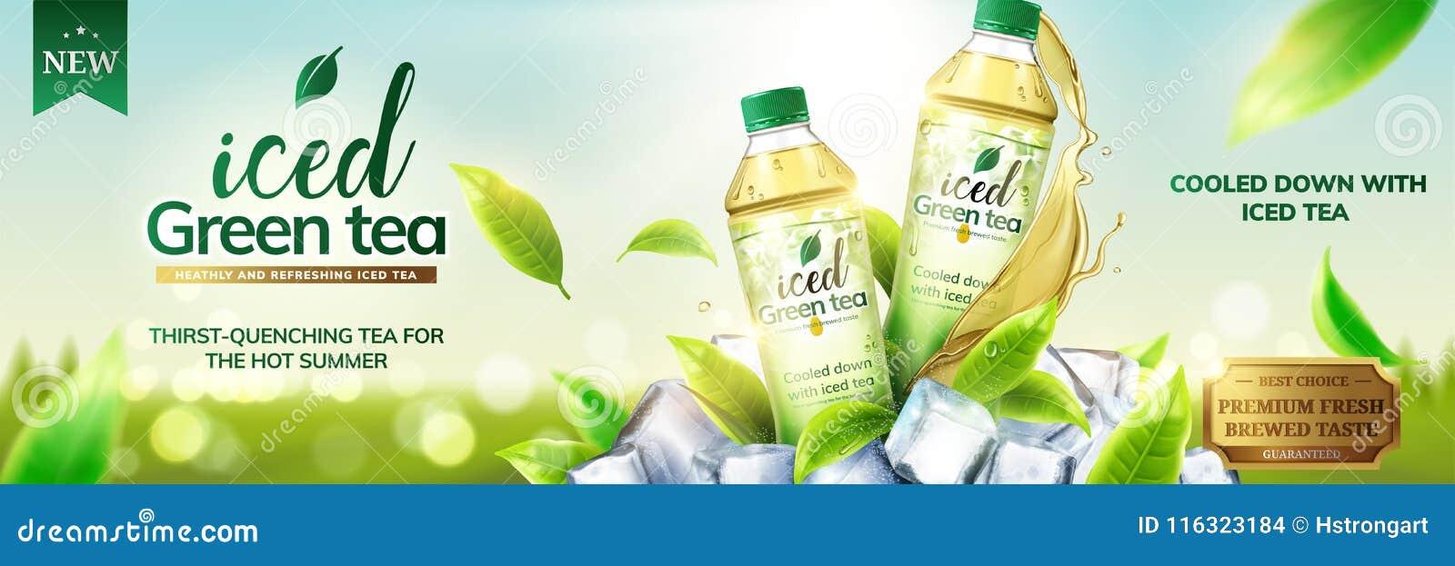 Med is annonser för grönt te