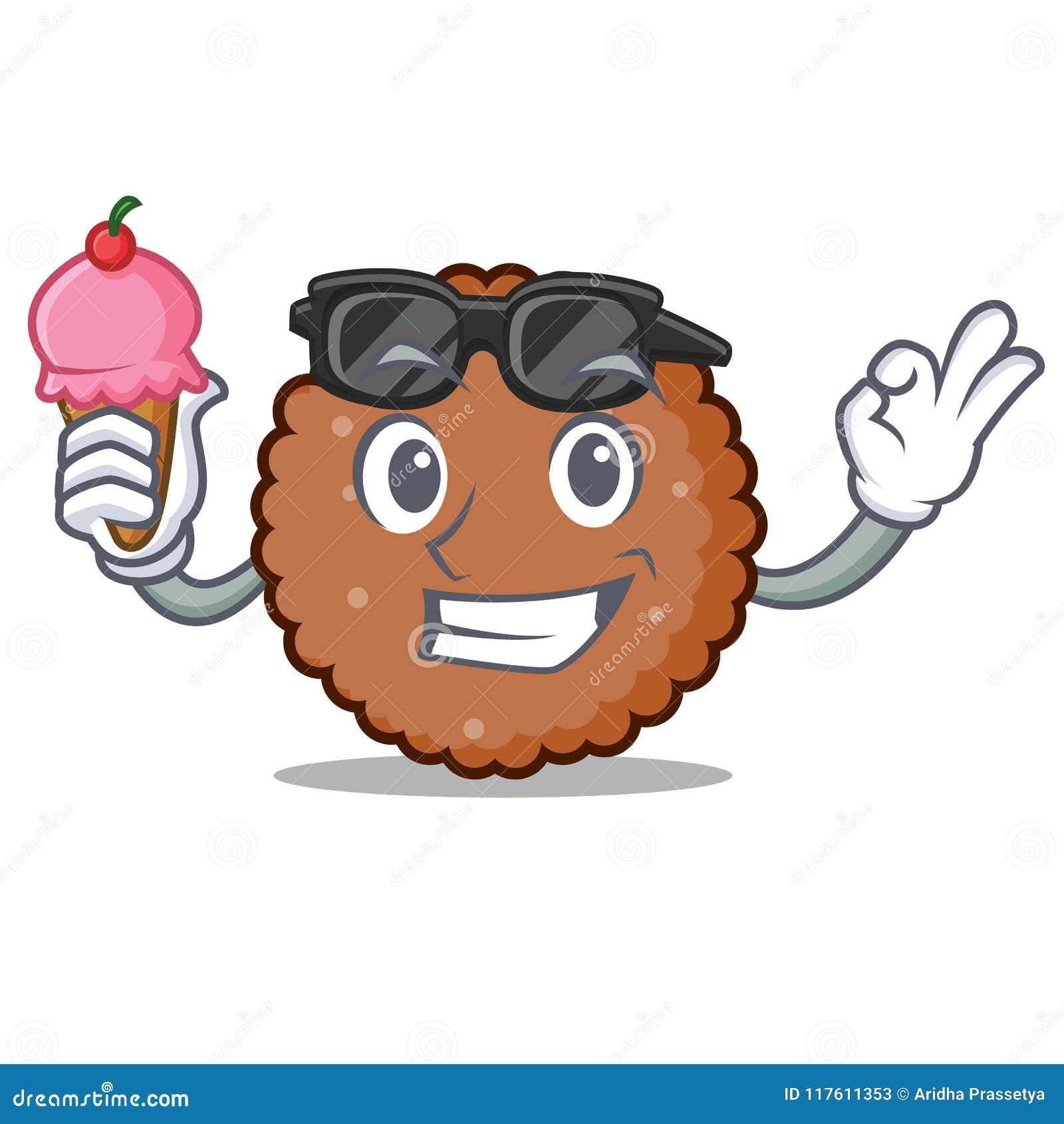 Med tecknade filmen för tecken för glasschoklad den ljusbruna