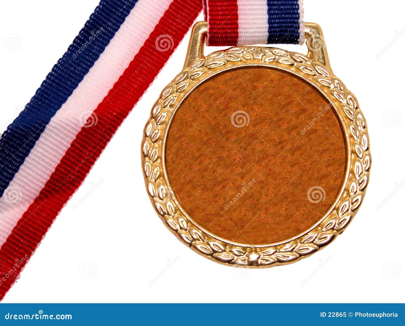 Medaglia di oro lucida (1 di 2)