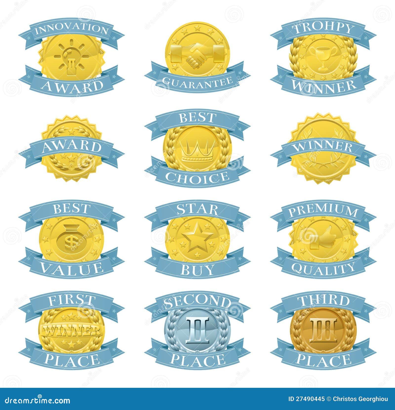 Medaglie o distintivi del premio