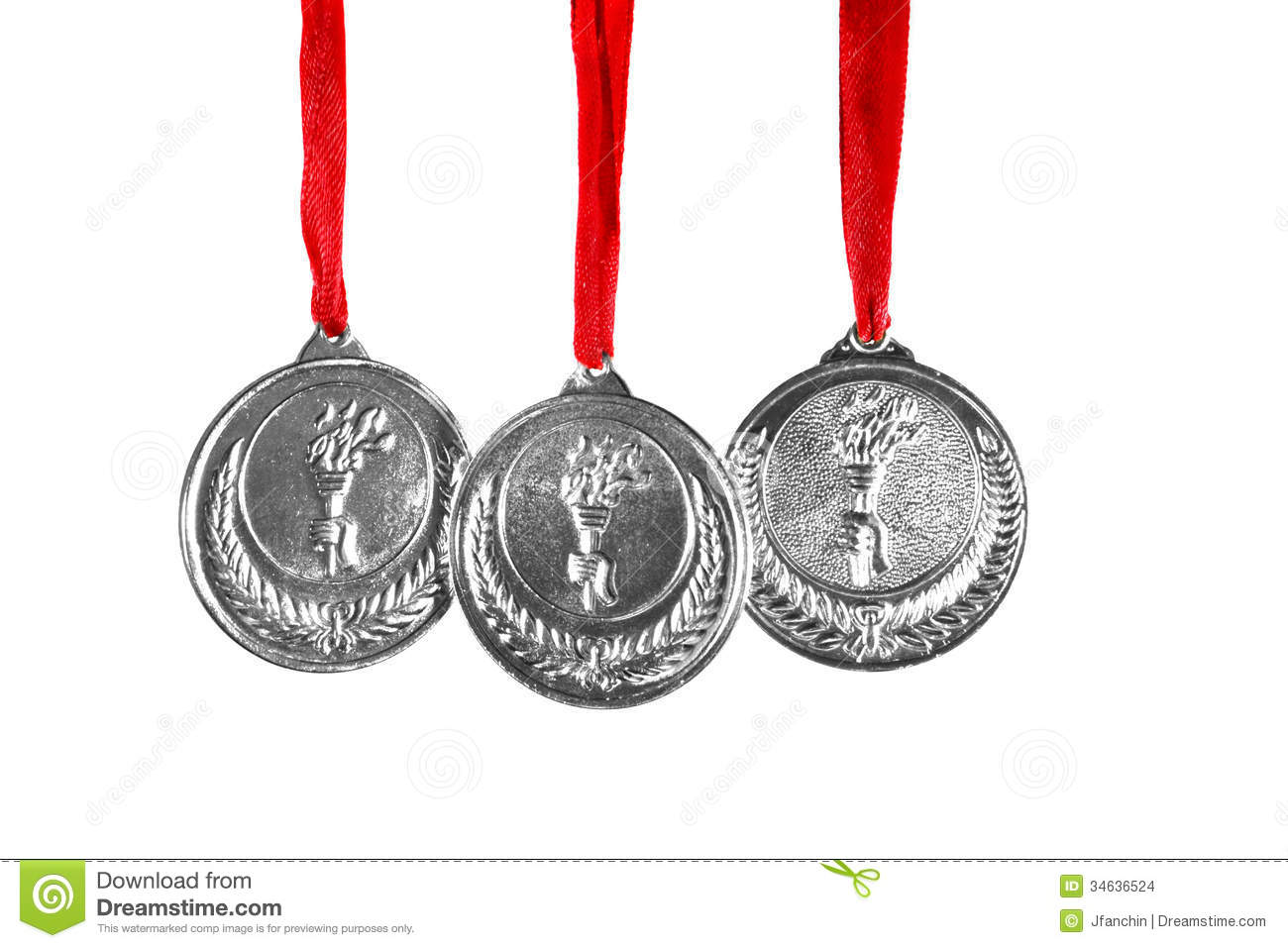 Silver Medal Clipart Olympic silver medals isolated