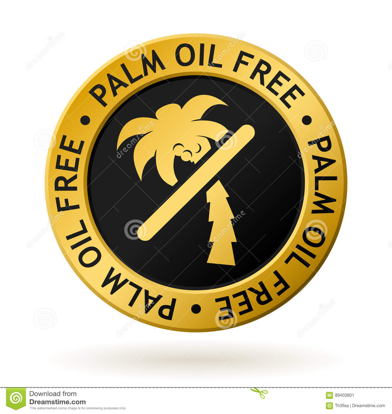 Medalha de ouro livre do óleo de palma do vetor