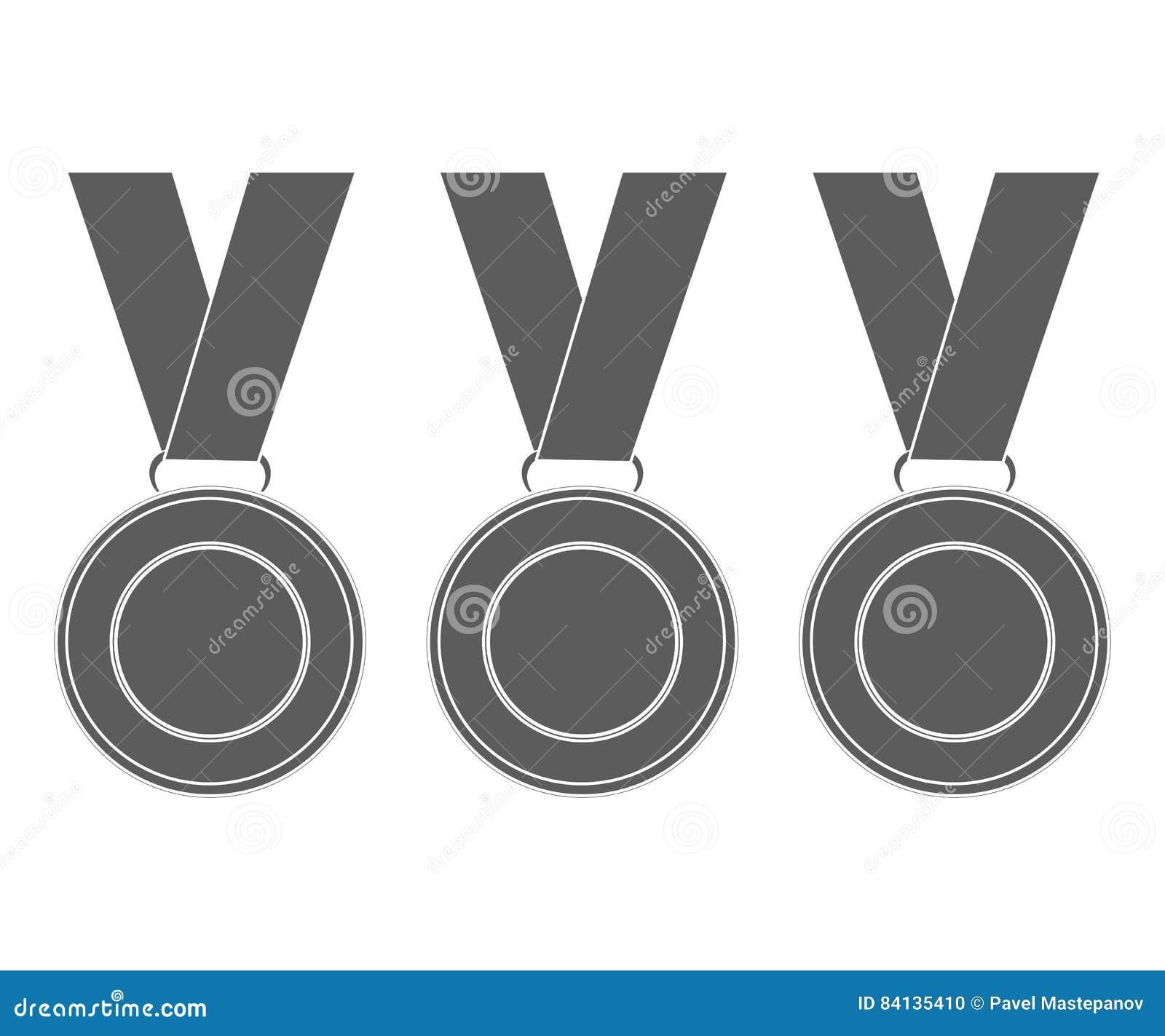 Medaljer för vinnarna av mästarna vektorillustration, fl