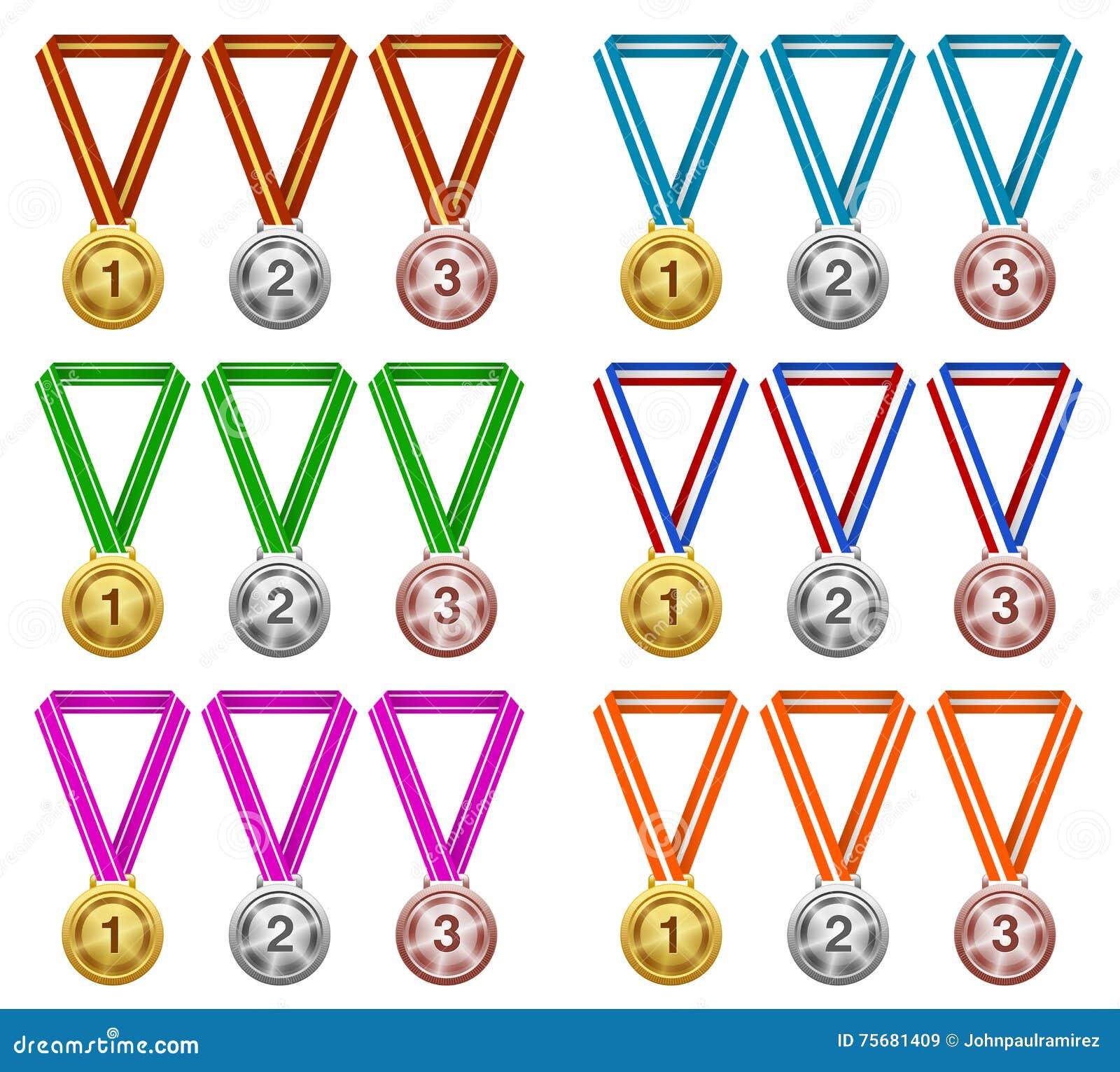 Medaljer utmärkelse, framgång, mästare