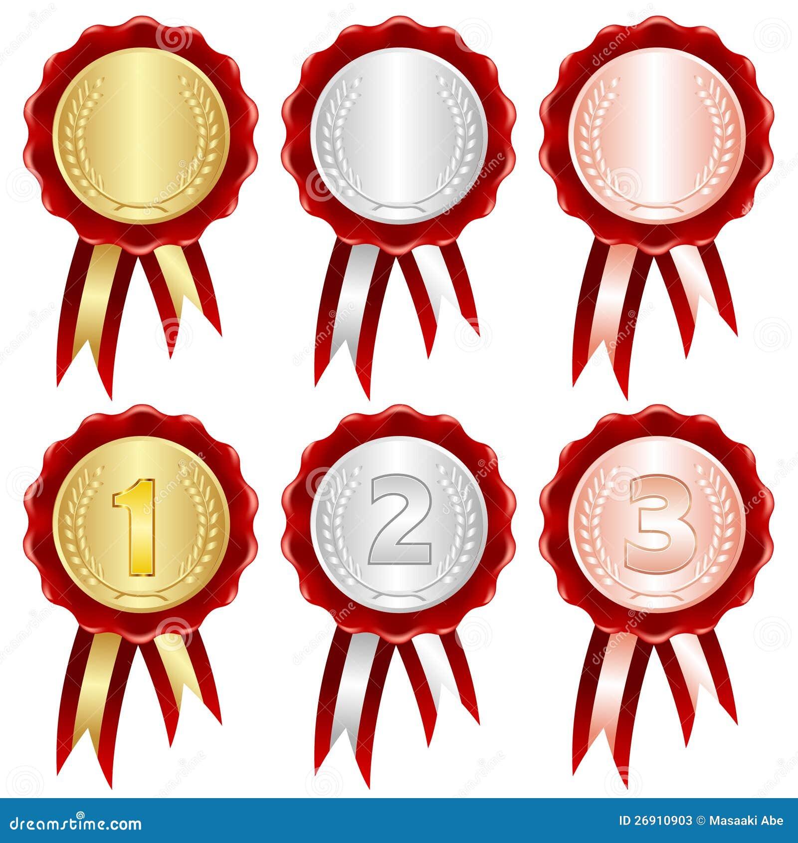 Medalla stock de ilustración. Ilustración de fondo, material - 26910903