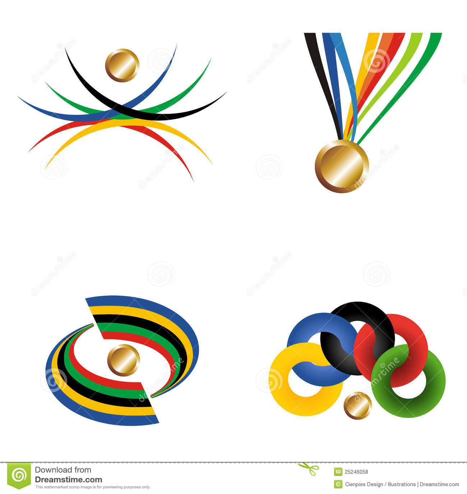 Medalla de oro con la cinta.