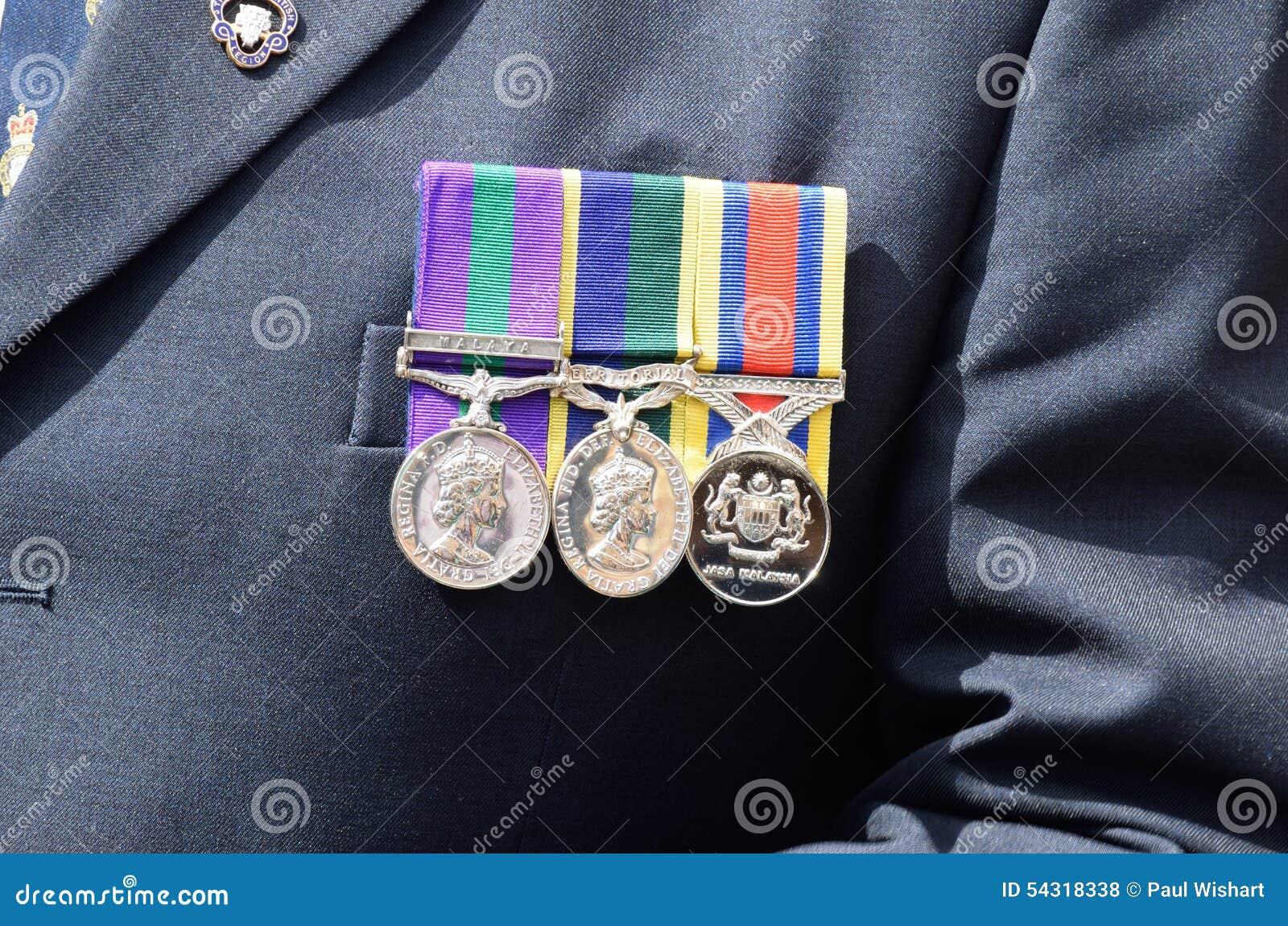 Medallas fijadas al pecho foto de archivo editorial. Imagen de logro ...