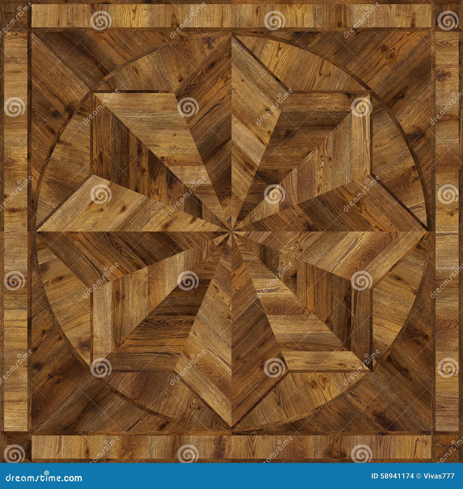 Medallion Design Grunge Parquet Floor Wooden Seamless