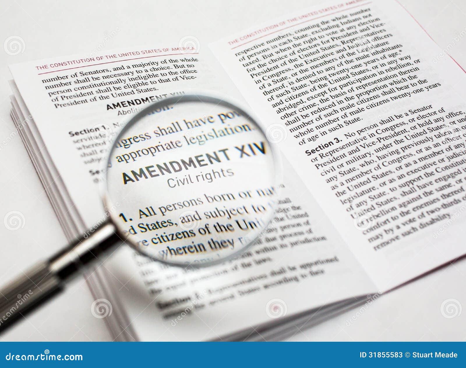 Medborgerliga rättigheter i konstitutionen av Förenta staterna