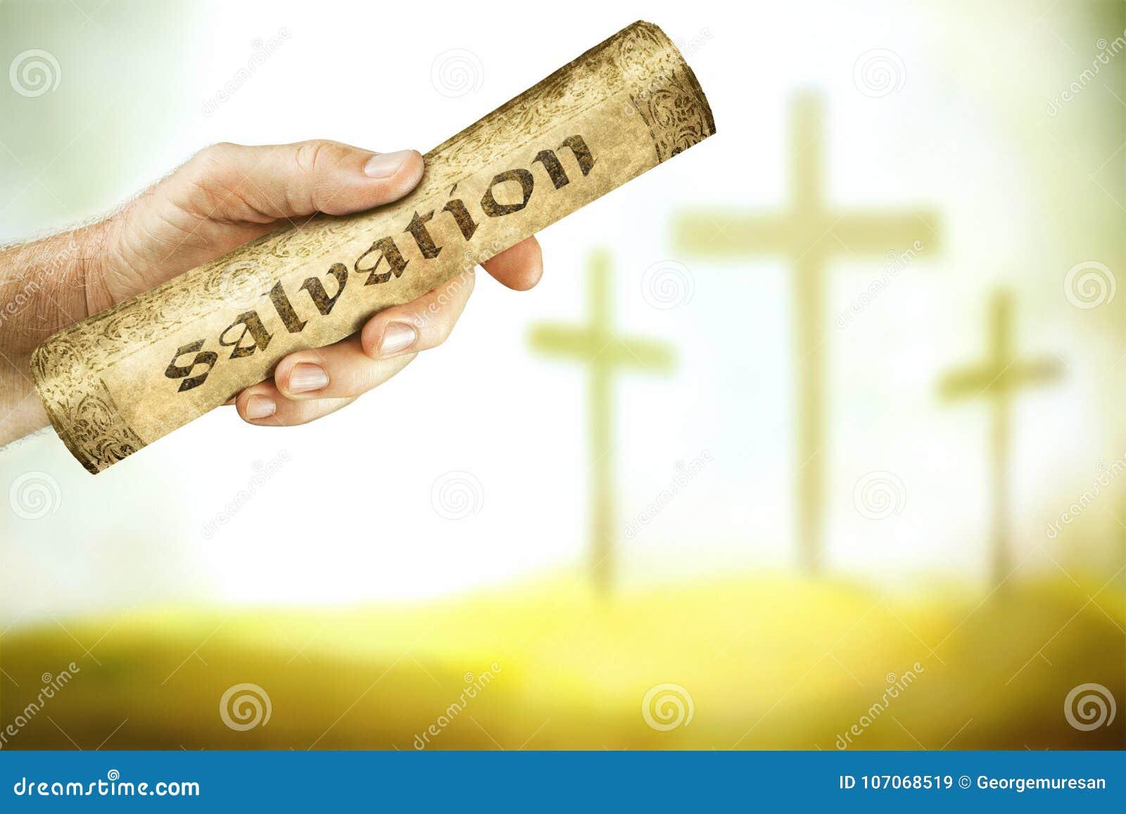 Meddelandet av räddning från korset