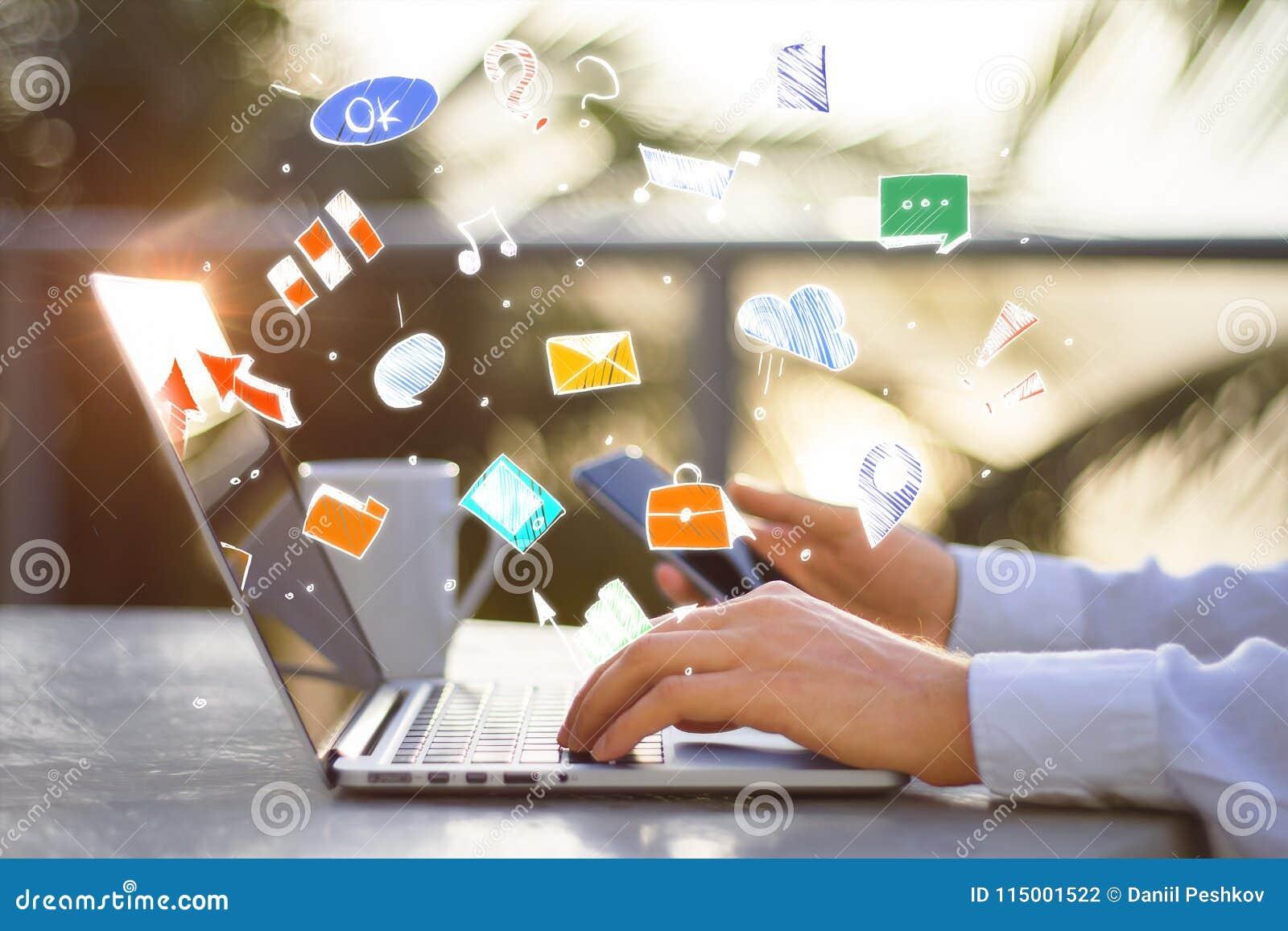 Mededeling, technologie en apparatenconcept