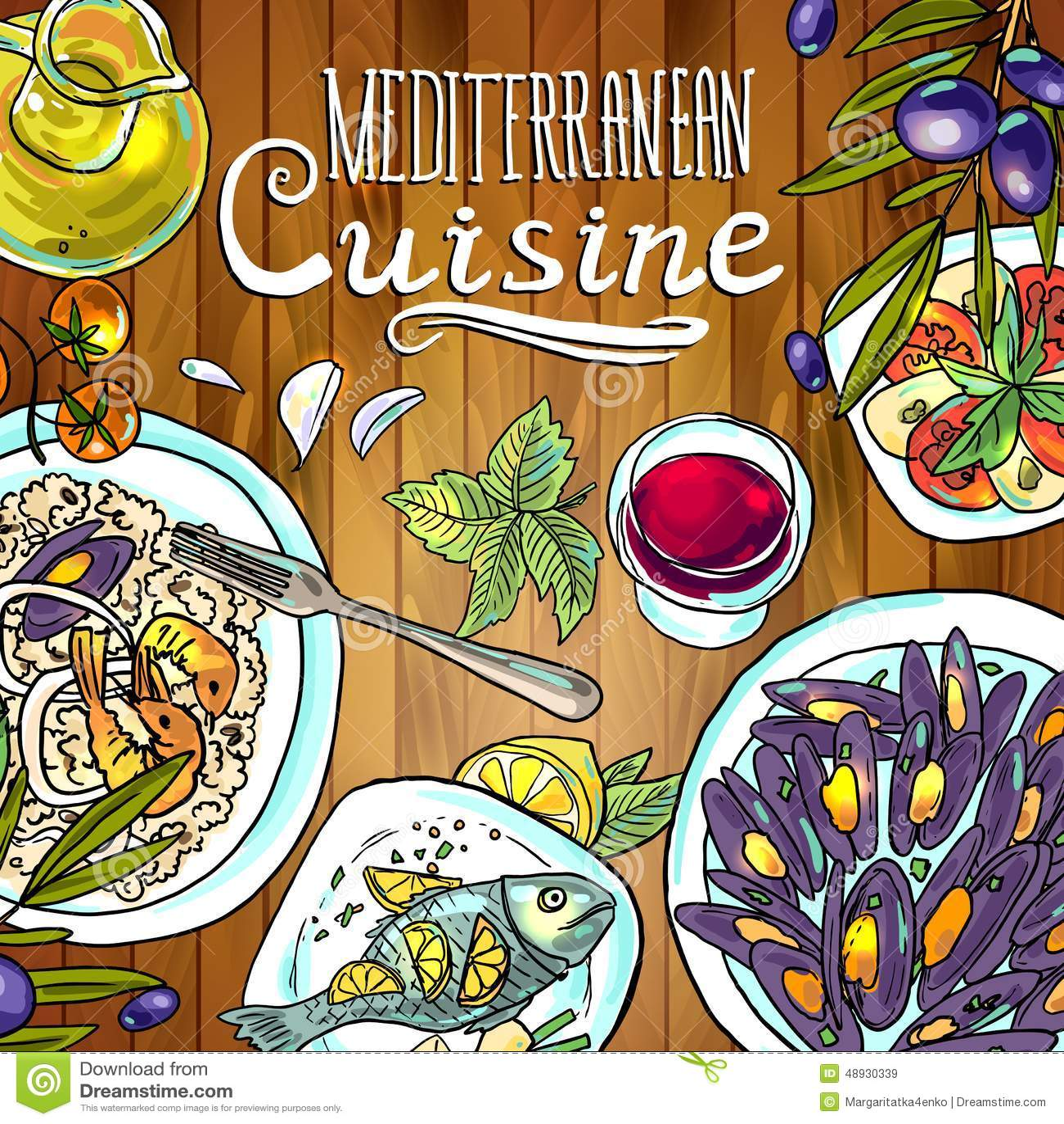 Medelhavs- kokkonst Den nya och saftiga skinka- och melonsunen formade bakgrund