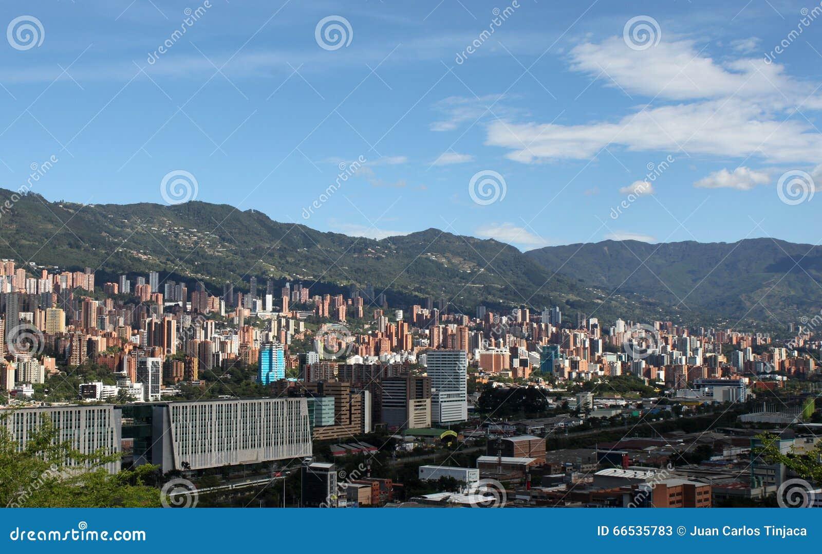 Medellin Colômbia Panorama da paisagem