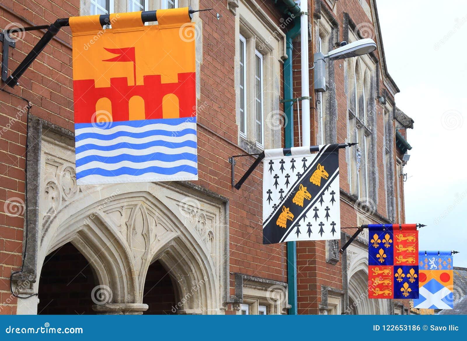 Medeltida flaggor i Colyton