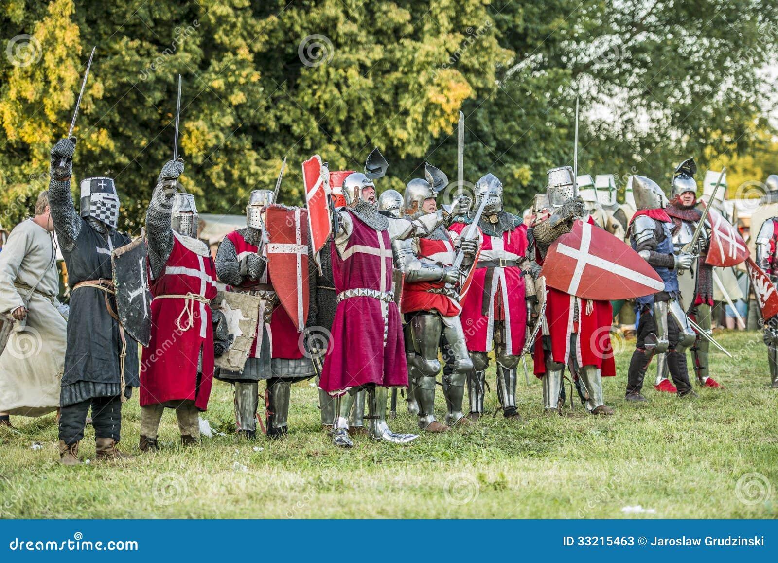 Medeltida slåss för riddare