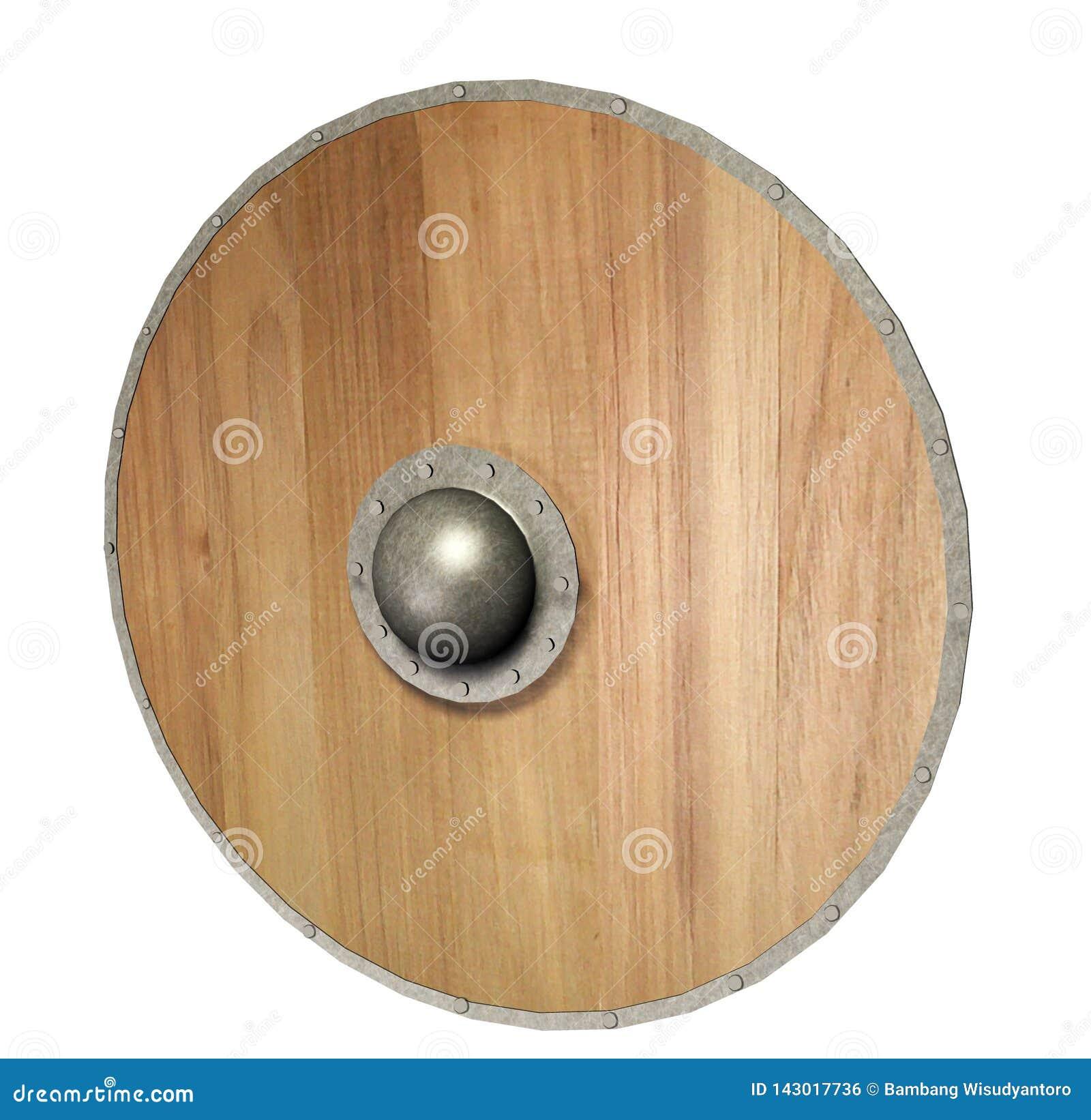 Medeltida Viking Shield 3D framför