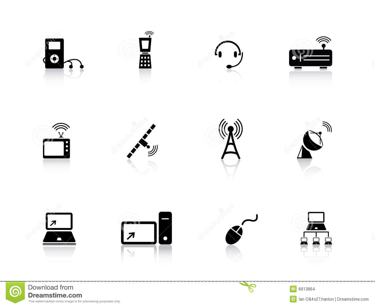 media and communication icons stock images
