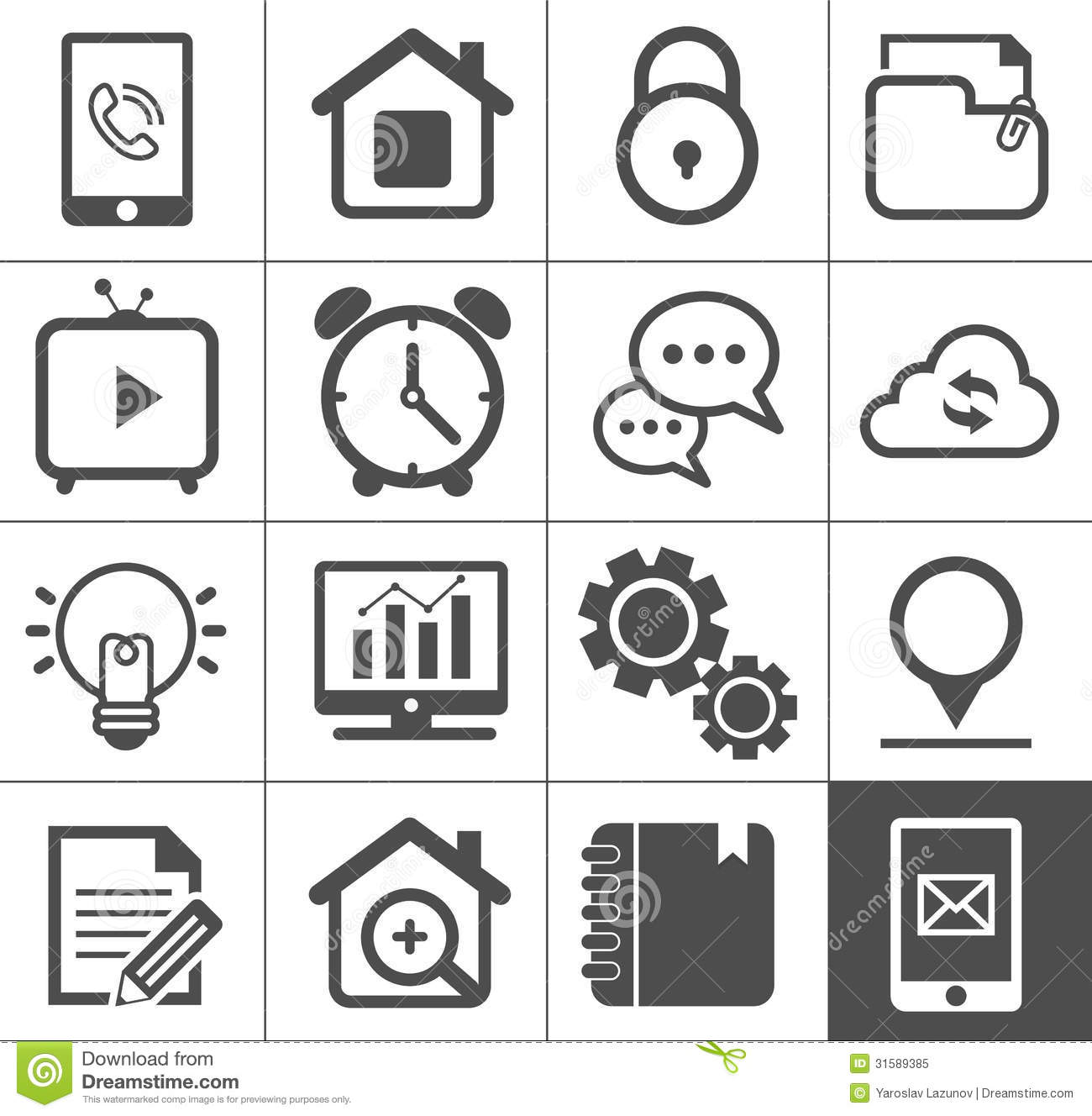Media And Communication Outline Icon Set Royalty Free
