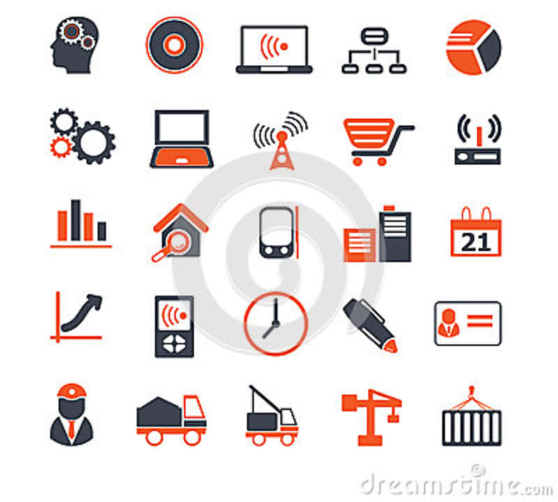 Media construction icons vector 36979247