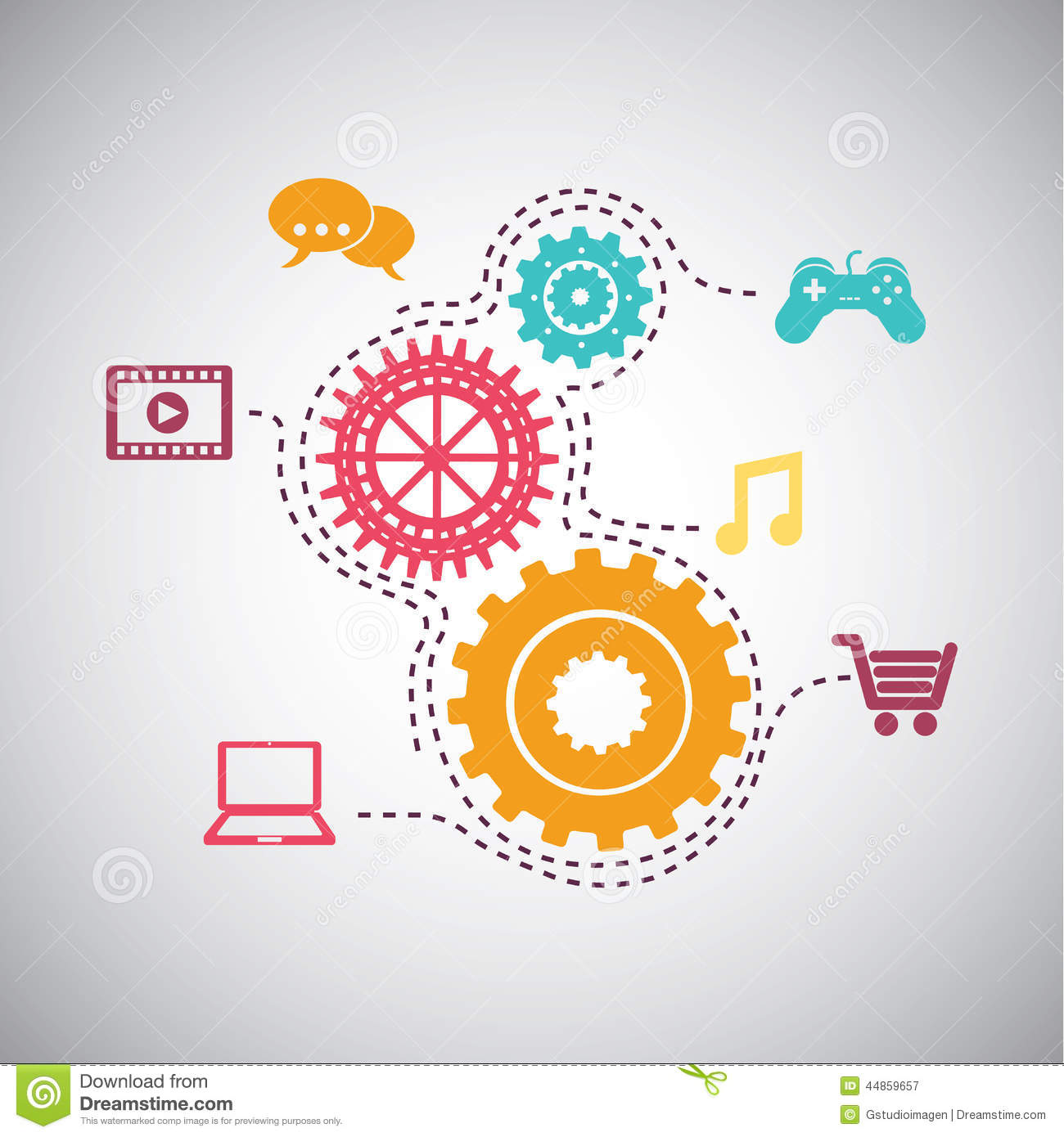 Media Design Stock Vector - Image: 44859657