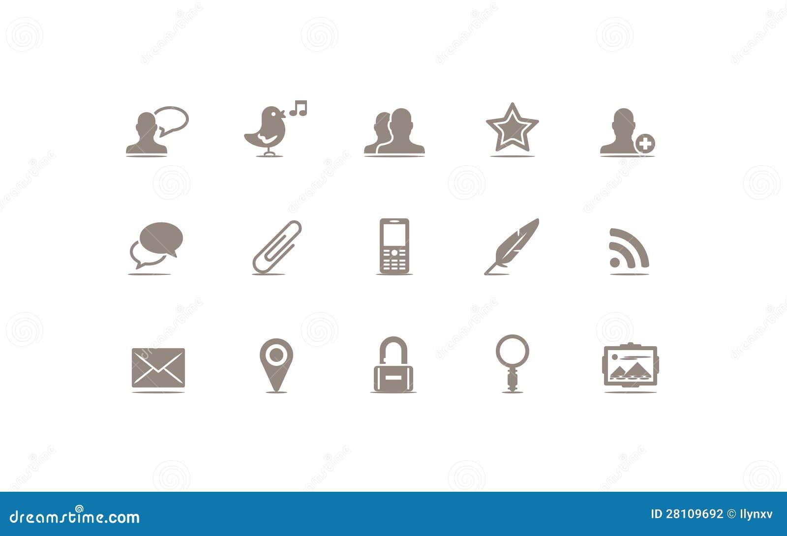 Media e ícone sociais do blogue