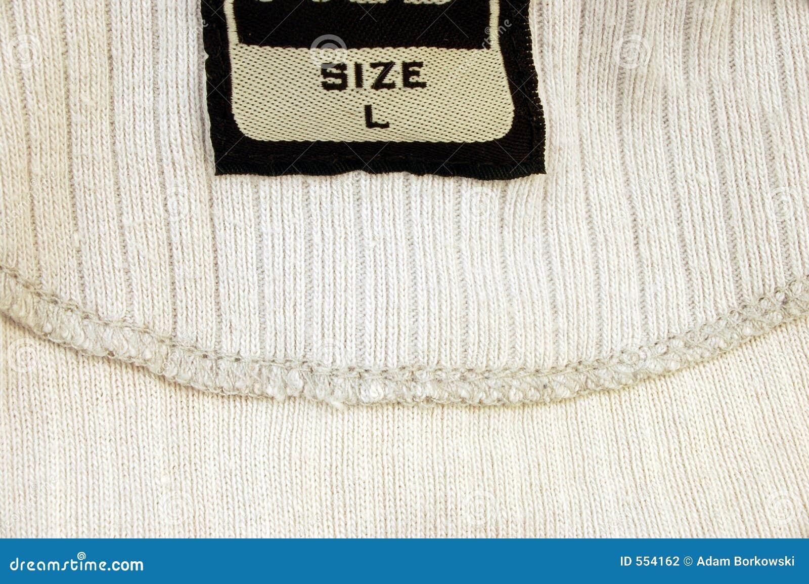 Media (L) camisa do tamanho