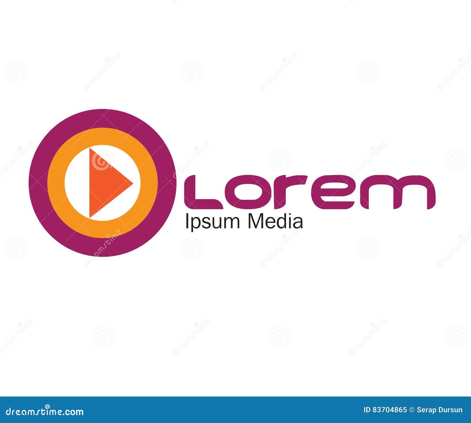 Media Logo Concept Design Stock Illustration