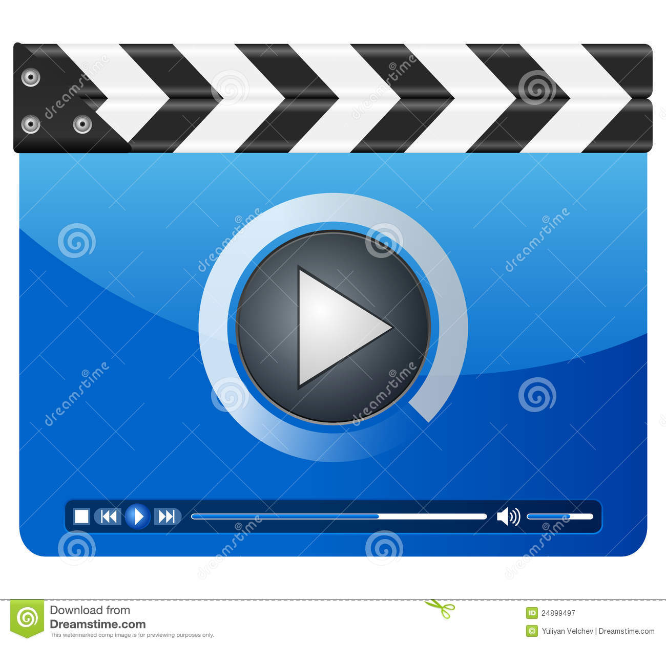 media player clapper board royalty free stock photography. Black Bedroom Furniture Sets. Home Design Ideas