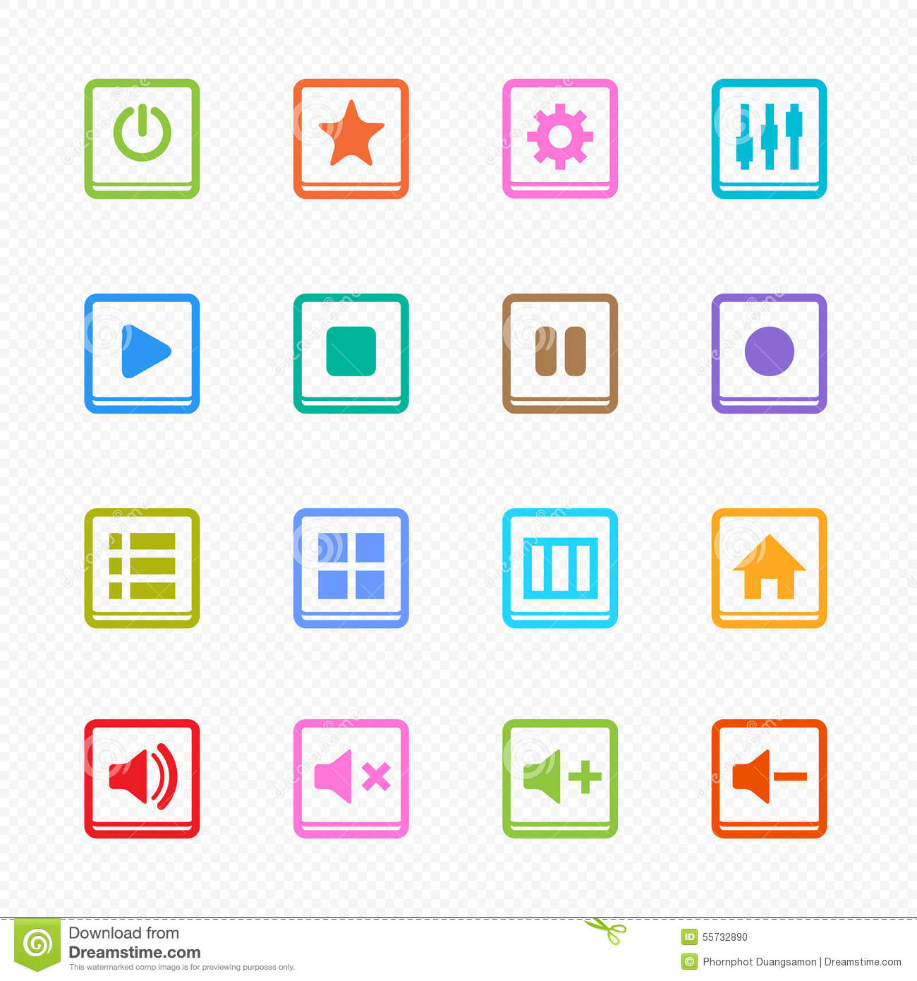 Color set of bulbs for your design cartoon vector for Set page background color html