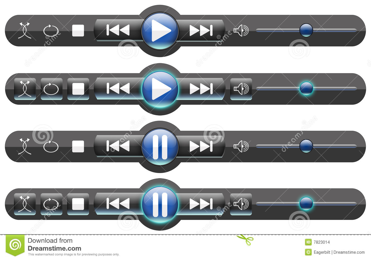 Media Player Controls/Rollover Buttons