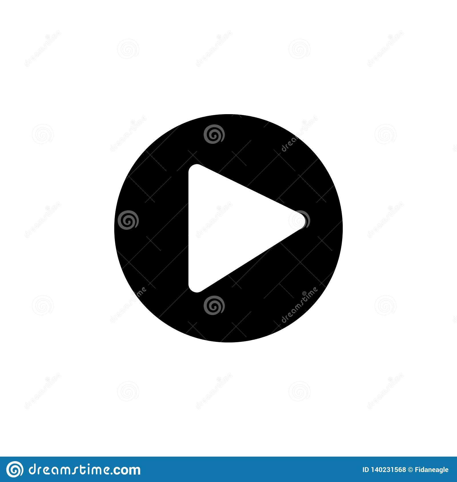 Media player icon. Signs and symbols can be used for web, logo, mobile app, UI, UX