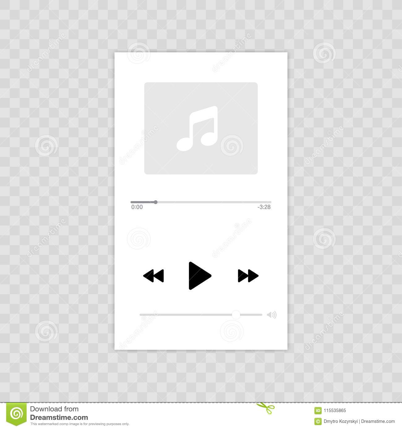 Media Player  Mobile Music Player Vector Icon Illustration