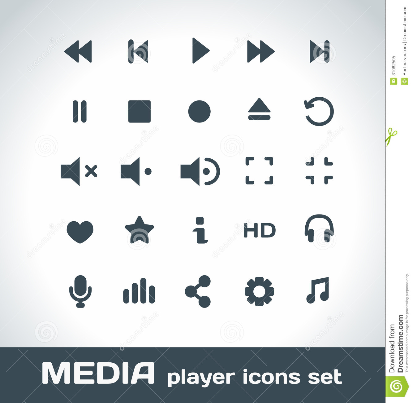 Media Player Vector Ic...