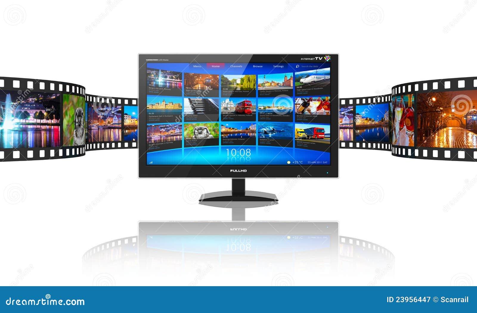 Media telecommunications concept