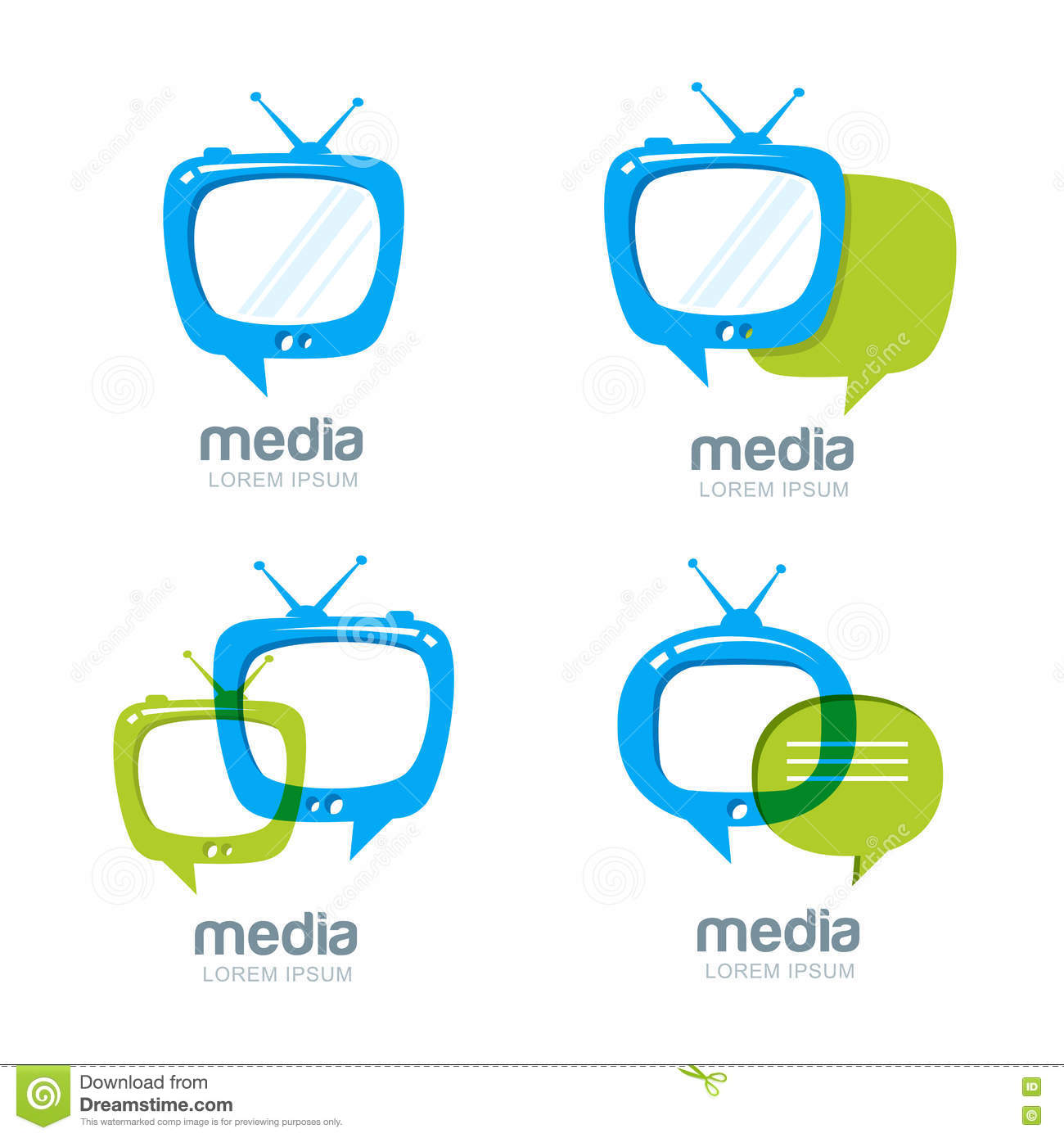 Media And Tv News Logo Design Template. Stock Vector - Illustration ...