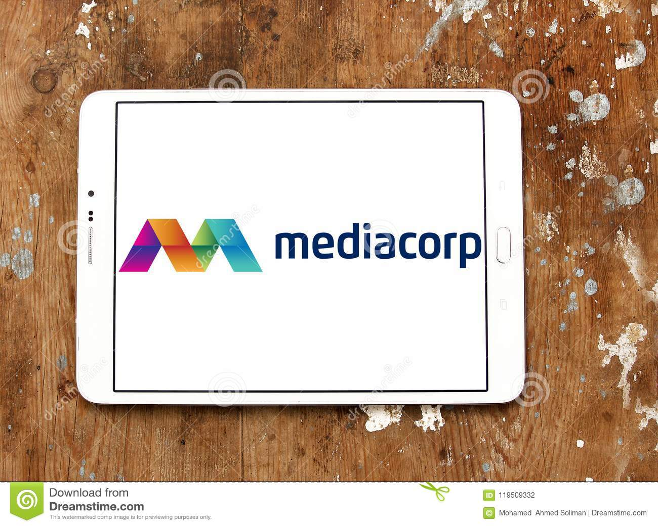 Mediacorp logo editorial photography  Image of group - 119509332