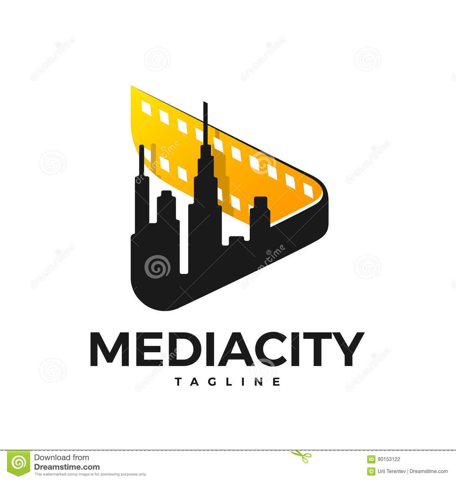 Medialny miasto logo