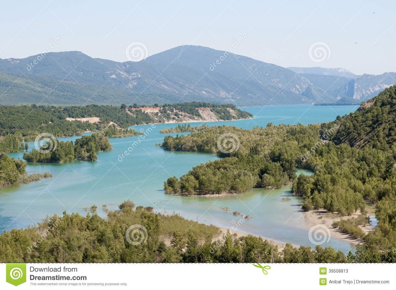 Mediano reservoir as seen from Ainsa, Spain