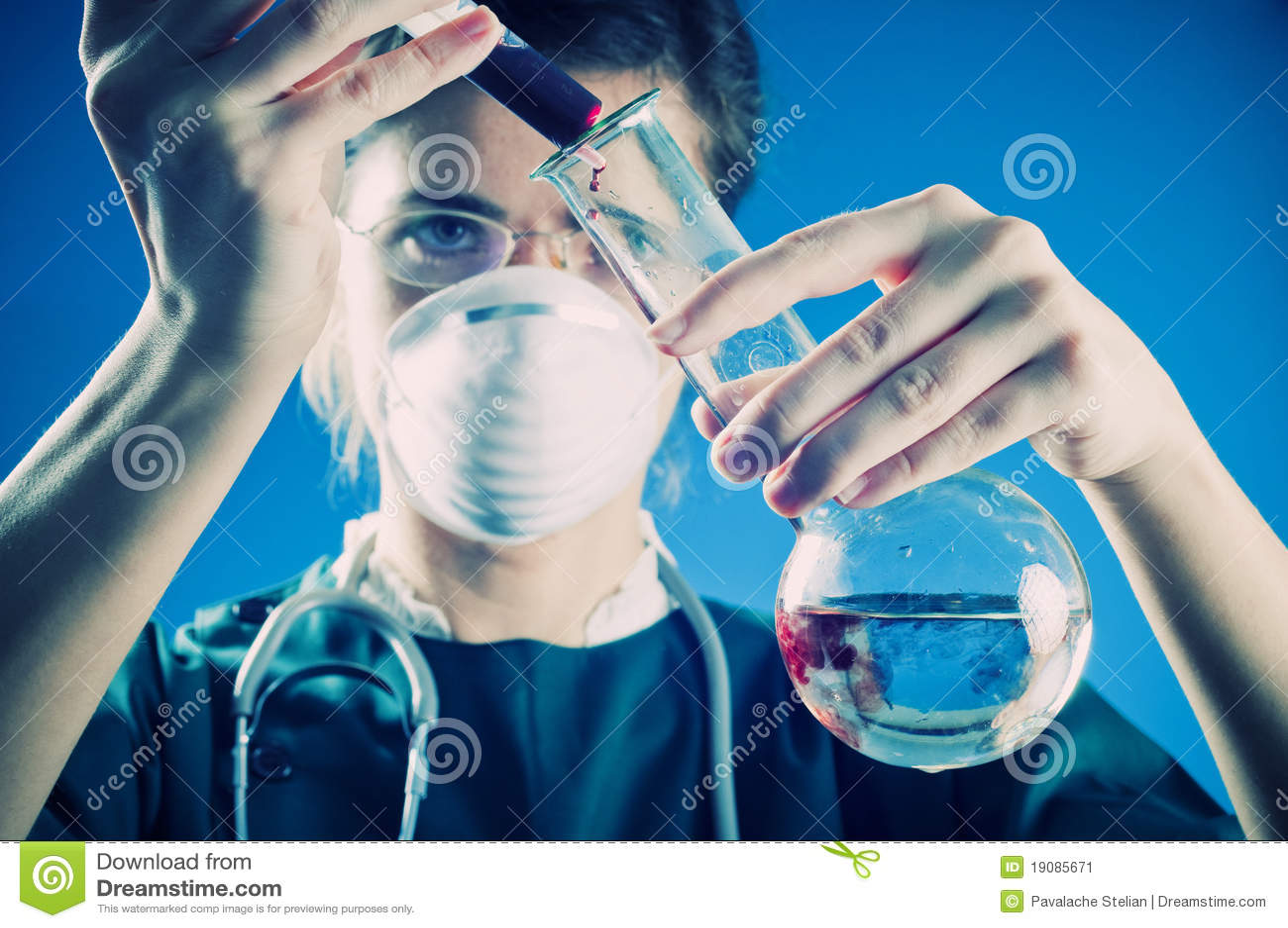 Medic in laboratory