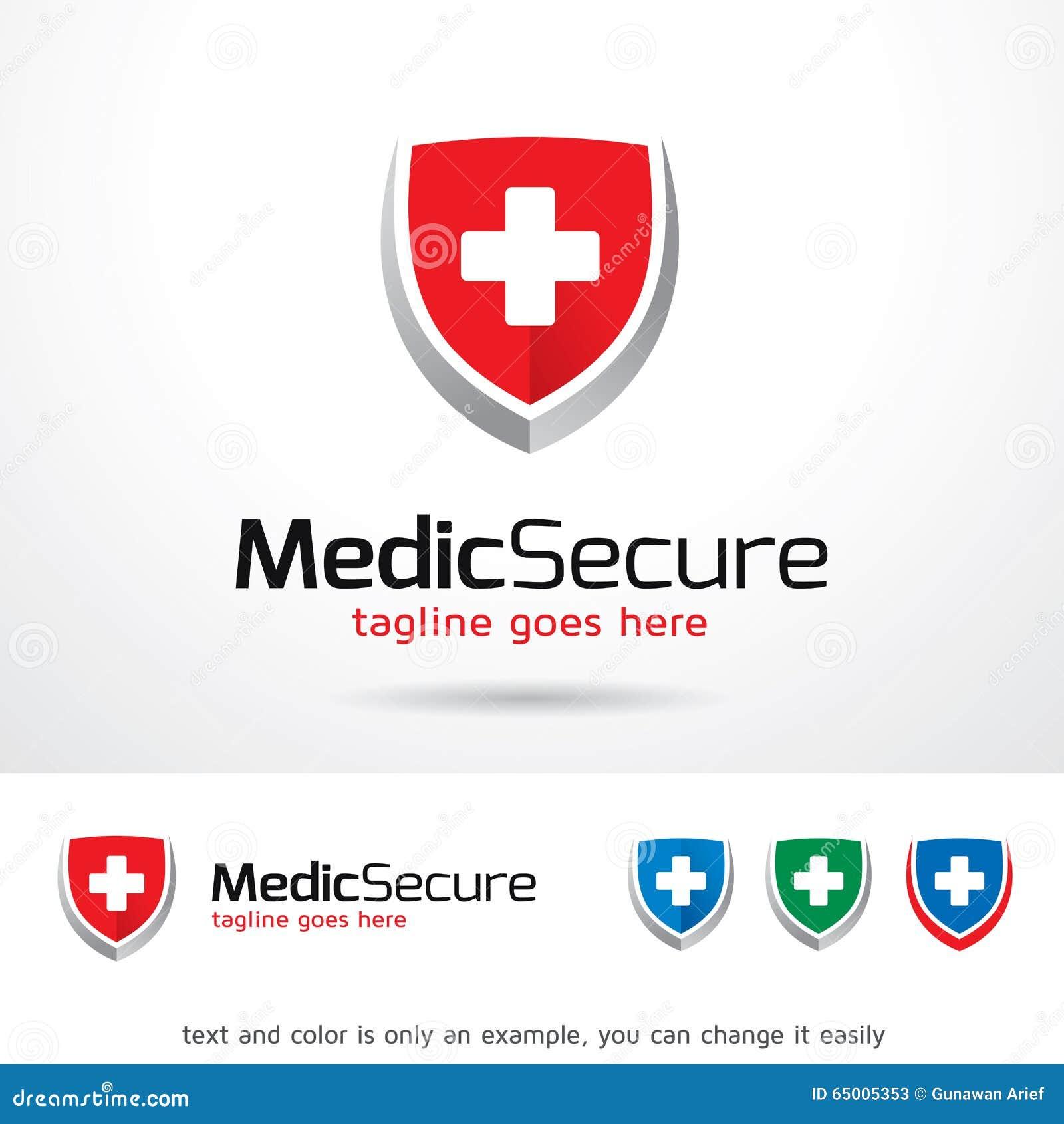 medic secure logo template design vector stock vector illustration