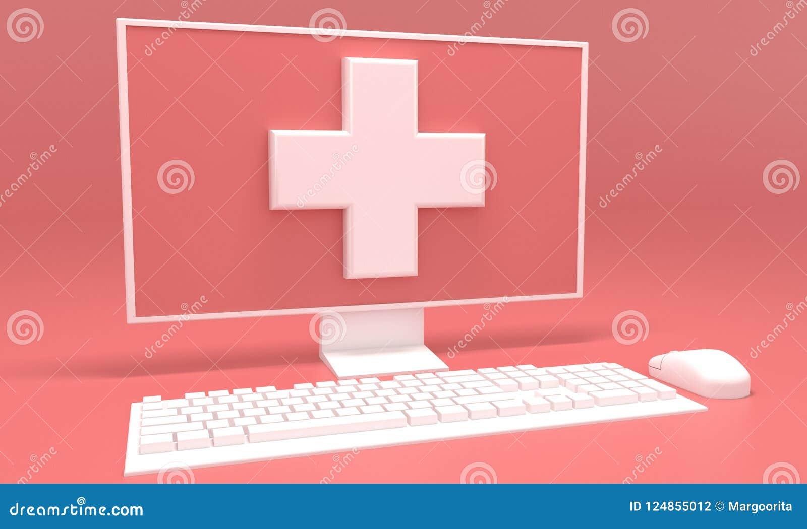 Medical Advice Online 3d Rendering
