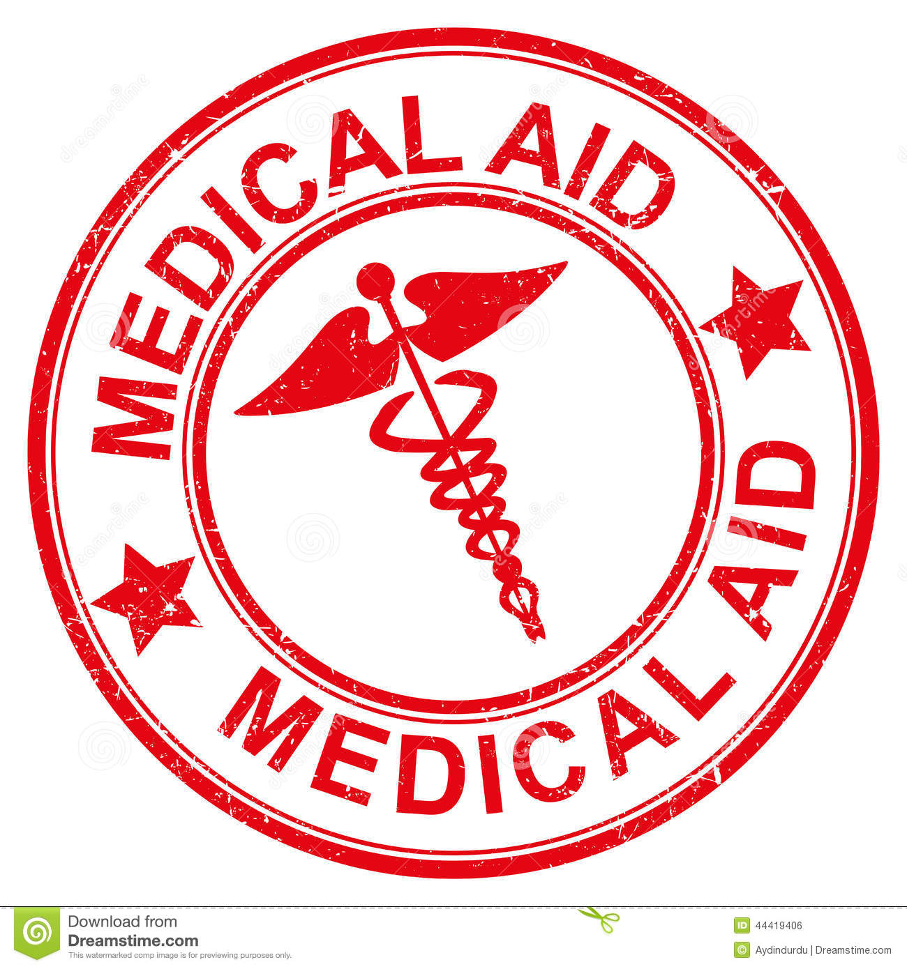 Illustration of a red medical aid icon on a white background.