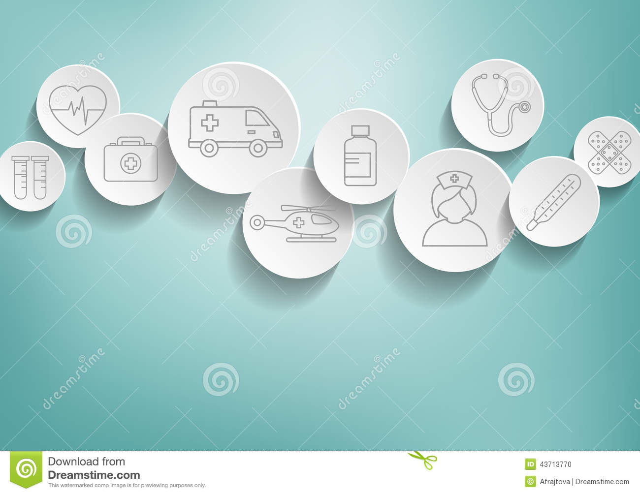 Medical background with icons representing medical and healthcare ...