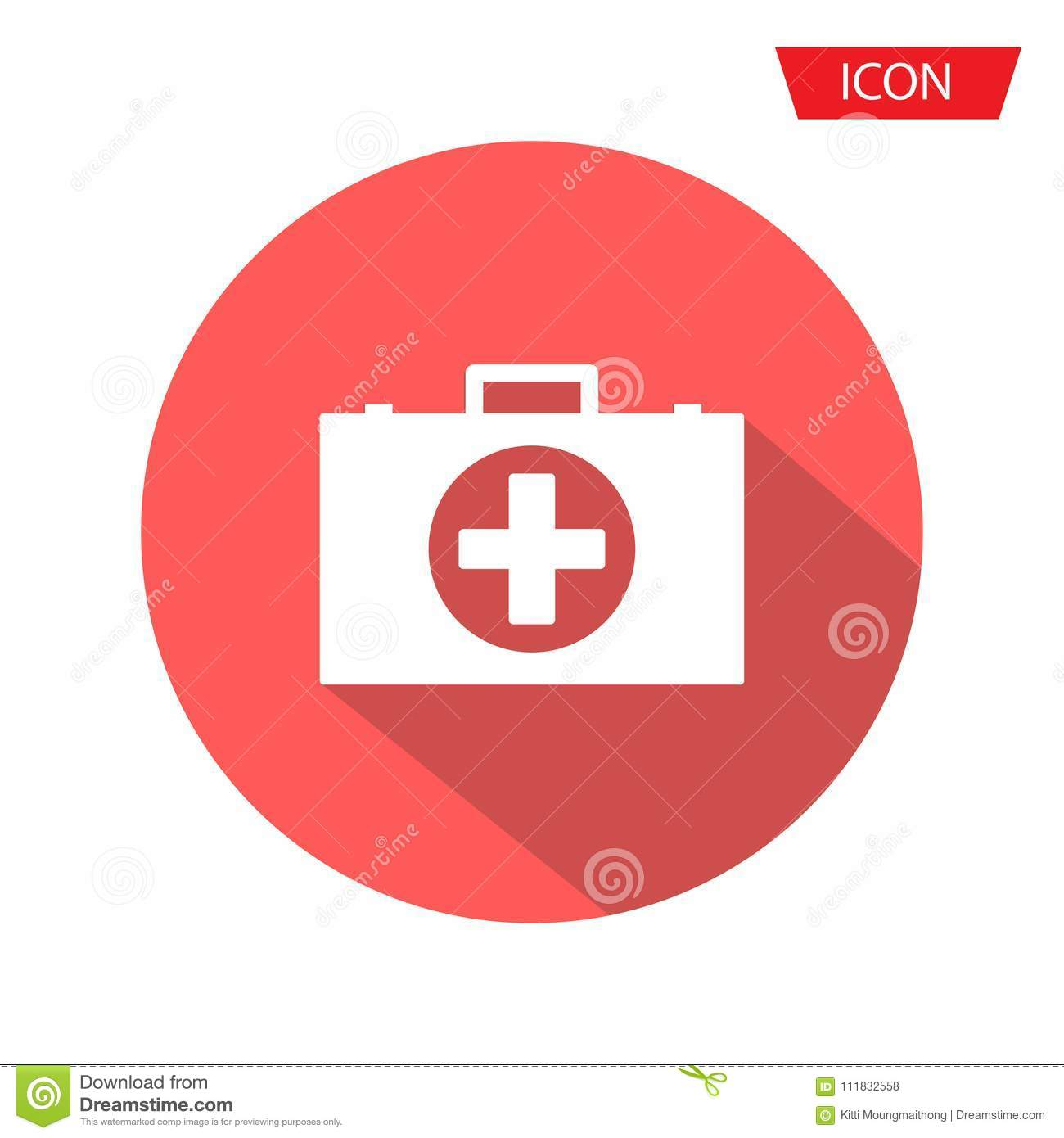 Medical Bag Icon Vector, First Aid Kit Icon Vector On Background
