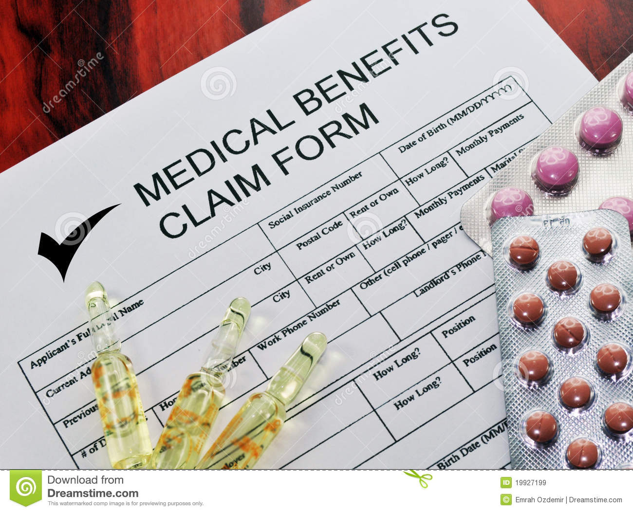 Medical Benefits Claim Form 2 Royalty Free Images Image – Medical Claim Form