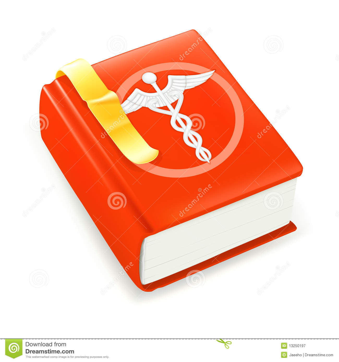 Medical Book Stock Vector Illustration Of Directory 13250197