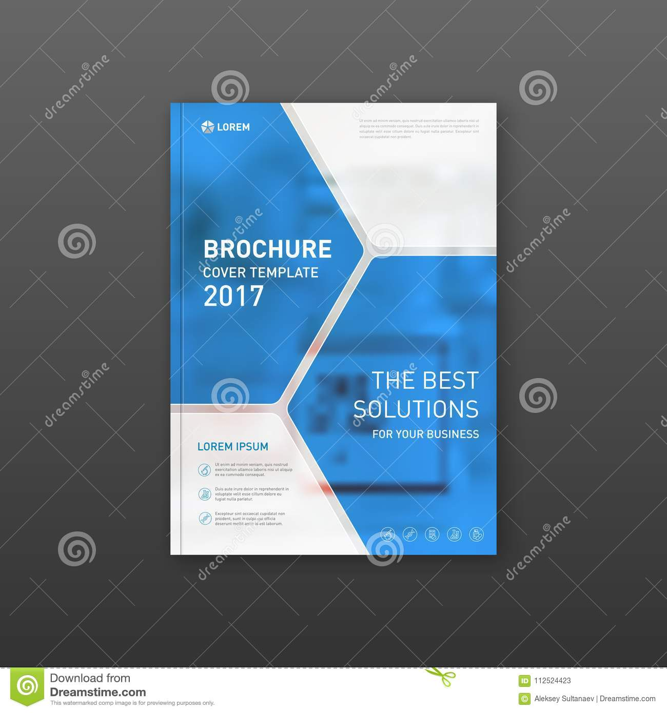 Medical Brochure Cover Template Flyer Design Layout Stock Vector Illustration Of Tablet Science 112524423