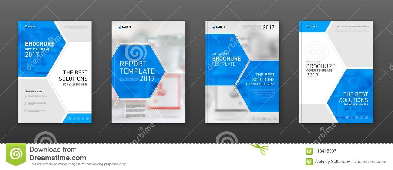 medical brochure cover templates set stock vector illustration of